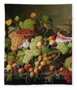 Abundant Fruit Fleece Blanket