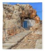 Agioi Saranta Cave Church - Cyprus Fleece Blanket