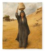 An Arab Girl Fleece Blanket