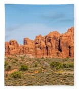 Arches National Park  Moab  Utah  Usa Fleece Blanket