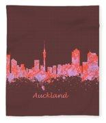 Auckland New Zealand Skyline Fleece Blanket