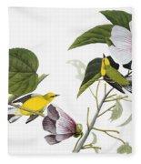Audubon Warbler Fleece Blanket