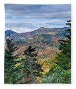 Autumn Foliage On Blue Ridge Parkway Near Maggie Valley North Ca Fleece Blanket