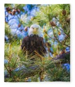 Bald Eagle Fleece Blanket