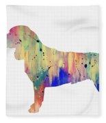 Beagle-colorful Fleece Blanket