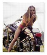 Bikes And Babes Fleece Blanket