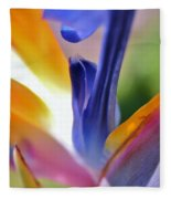3 Bird Of Paradise Macro Fleece Blanket