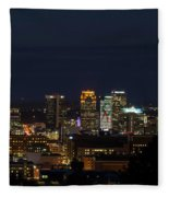 Birmingham Skyline Fleece Blanket