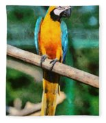 Blue And Gold Macaw Fleece Blanket