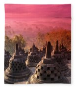 Borobudor Temple Fleece Blanket