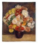 Bouquet Of Chrysanthemums Fleece Blanket