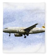 British Airways A319 Feather Design Art Fleece Blanket
