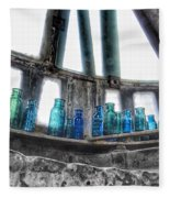 Bromo Seltzer Vintage Glass Bottles Fleece Blanket