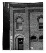 Burlington North Carolina - Arches And Alley Bw Fleece Blanket