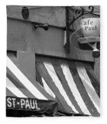 Cafe St. Paul - Montreal Fleece Blanket