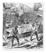 California Gold Rush, 1860 Fleece Blanket