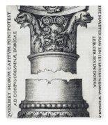 Capital And Base Of A Column Fleece Blanket