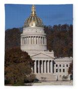 Capital Of West Virginia In Charleston Fleece Blanket