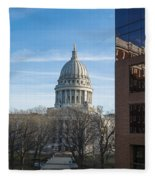 Capitol - Madison - Wisconsin Fleece Blanket