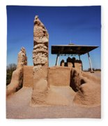 Casa Grande Ruins Fleece Blanket