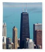Chicago Il, Usa Fleece Blanket