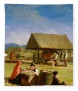 Cider Making Fleece Blanket