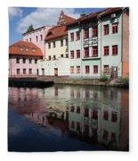 City Of Bydgoszcz In Poland Fleece Blanket