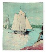 Clear Sailing Fleece Blanket