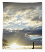 Cloudy Blue Fleece Blanket