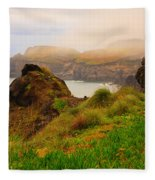 Coastal Landscape Fleece Blanket