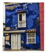 Colonial Buildings In Old Cartagena Colombia Fleece Blanket