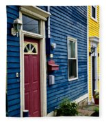 Colorful Houses In St. John's Fleece Blanket