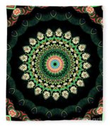 Colorful Kaleidoscope Incorporating Aspects Of Asian Architectur Fleece Blanket