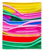 Colorful Plastic Fleece Blanket