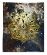 Conceptual Illustration Of Atomic Clock Fleece Blanket