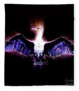 Cormorant Dries Its Wings Fleece Blanket