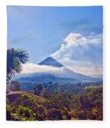 Costa Rica Volcano Fleece Blanket