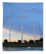3 Cross Sunset Fleece Blanket