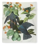 Crowned Pigeon Fleece Blanket