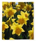 Daffodils In The Sunshine Fleece Blanket