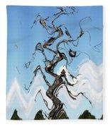 Dead Pine Tree Abstract Fleece Blanket