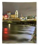 Des Moines Fleece Blanket