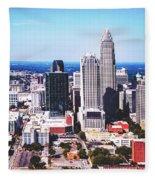 Downtown Charlotte Fleece Blanket