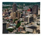 Downtown San Antonio Fleece Blanket