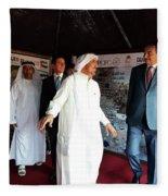 Dubai Travelers Festival Fleece Blanket