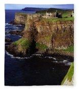 Dunluce Castle, Co. Antrim, Ireland Fleece Blanket