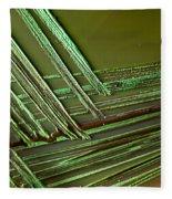 E. Coli In Culture Dish, Macro Image Fleece Blanket