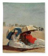 East Hampton Beach, Long Island Fleece Blanket