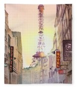 Eiffel Tower Paris France Fleece Blanket