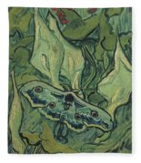 Emperor Moth Fleece Blanket